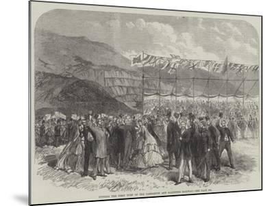 Cutting the First Turf of the Carnarvon and Llanberis Railway--Mounted Giclee Print