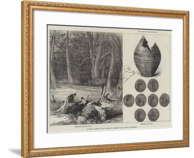 Ancient Roman Coins Found in Cobham Park, Near Gravesend--Framed Giclee Print