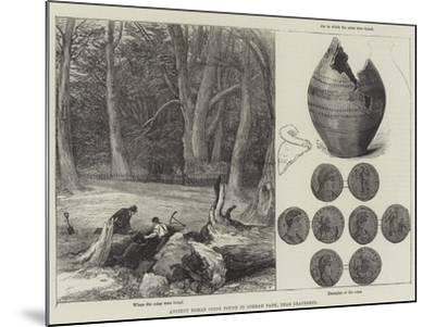 Ancient Roman Coins Found in Cobham Park, Near Gravesend--Mounted Giclee Print