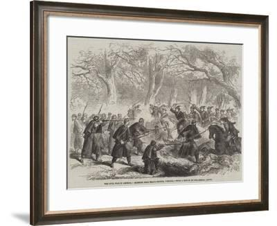 The Civil War in America, Skirmish Near Fall's Church, Virginia--Framed Giclee Print