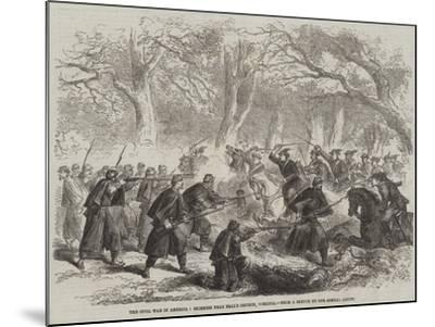 The Civil War in America, Skirmish Near Fall's Church, Virginia--Mounted Giclee Print