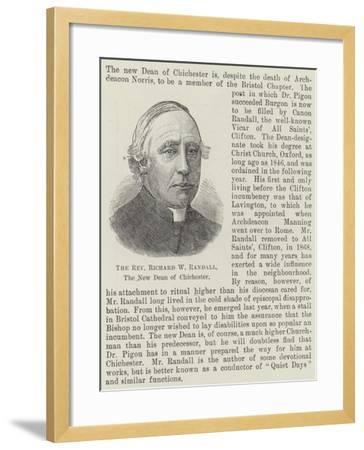 The Reverend Richard W Randall, the New Dean of Chichester--Framed Giclee Print
