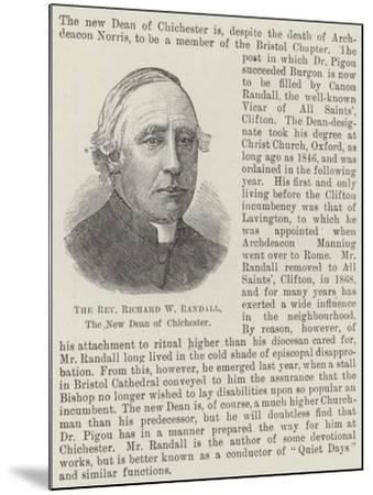 The Reverend Richard W Randall, the New Dean of Chichester--Mounted Giclee Print