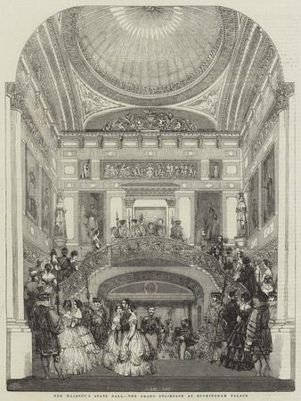 Her Majesty's State Ball, the Grand Staircase at Buckingham Palace--Framed Giclee Print