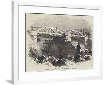 The Valparaiso and Santiago Railway, Bridge at Valparaiso--Framed Giclee Print