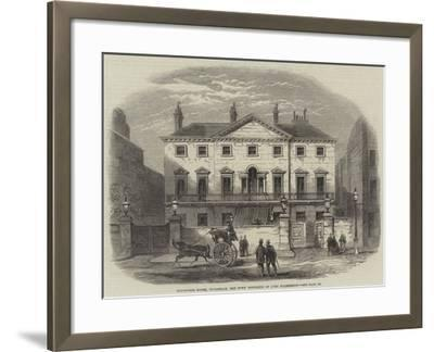 Cambridge House, Piccadilly, the Town Residence of Lord Palmerston--Framed Giclee Print