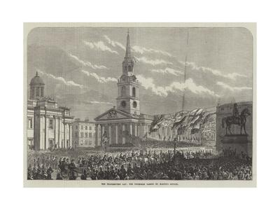 The Thanksgiving Day, the Procession Passing St Martin's Church--Framed Giclee Print