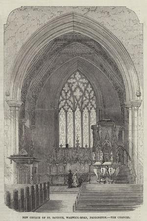 New Church of St Saviour, Warwick-Road, Paddington, the Chancel--Stretched Canvas Print