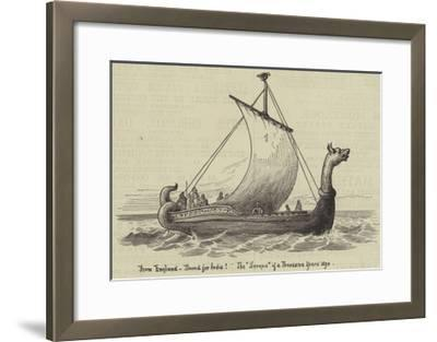 From England, Bound for India! the Serapis of a Thousand Years Ago--Framed Giclee Print