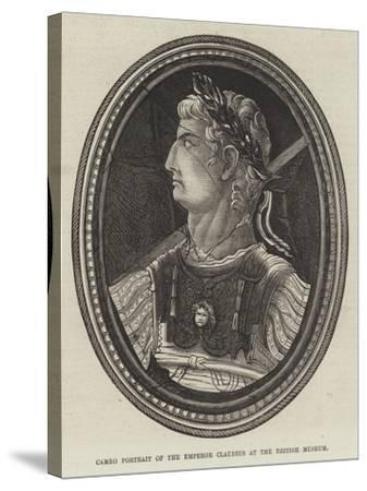 Cameo Portrait of the Emperor Claudius at the British Museum--Stretched Canvas Print