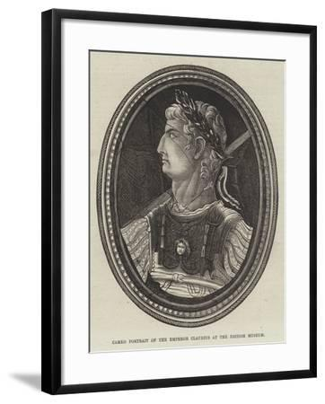 Cameo Portrait of the Emperor Claudius at the British Museum--Framed Giclee Print
