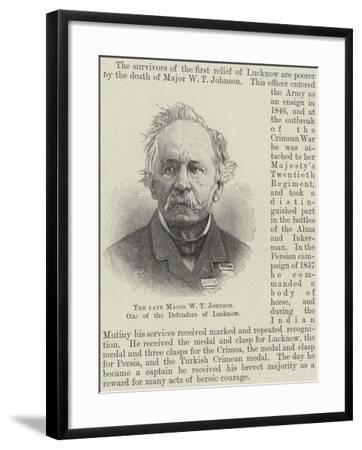 The Late Major W T Johnson, One of the Defenders of Lucknow--Framed Giclee Print