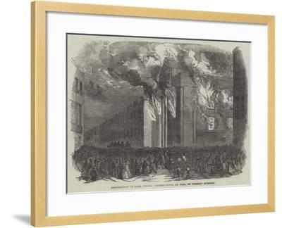 Destruction of Park Chapel Camden-Town, by Fire, on Tuesday Evening--Framed Giclee Print