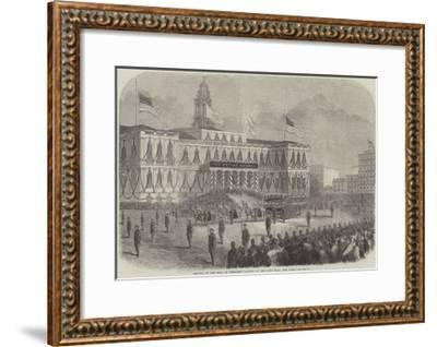 Arrival of the Body of President Lincoln at the City Hall, New York--Framed Giclee Print