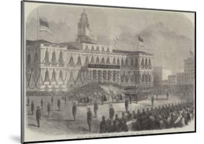 Arrival of the Body of President Lincoln at the City Hall, New York--Mounted Giclee Print