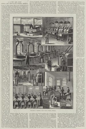 Advertisement, J S Fry and Sons' Cocoa and Chocolate Works, Bristol--Stretched Canvas Print