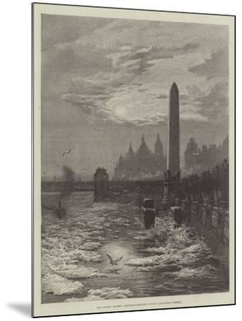 The Frozen Thames, Seagulls Circling Round Cleopatra's Needle--Mounted Giclee Print