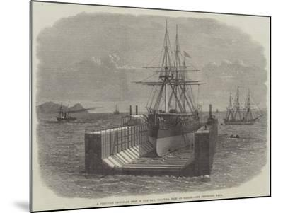 A Peruvian Iron-Clad Ship in the New Floating Dock at Callao--Mounted Giclee Print