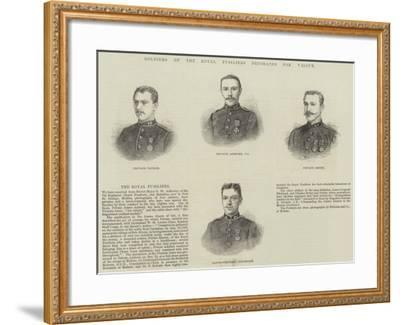 Soldiers of the Royal Fusiliers Decorated for Valour--Framed Giclee Print