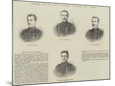 Soldiers of the Royal Fusiliers Decorated for Valour--Mounted Giclee Print