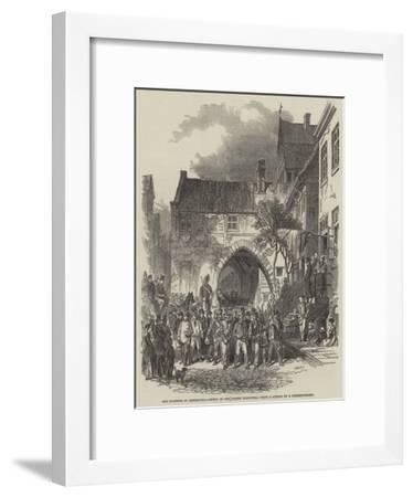 The Fortress of Rendsburg, Entry of the Danish Prisoners--Framed Giclee Print