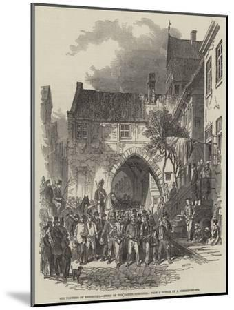 The Fortress of Rendsburg, Entry of the Danish Prisoners--Mounted Giclee Print