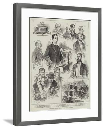 The General Election Campaign, Lord Rosebery at Paisley--Framed Giclee Print