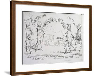 A Prince and a Poltron, Published by J. Aitken in 1789--Framed Giclee Print