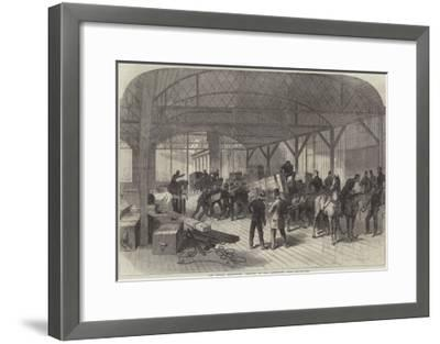 The Dublin Exhibition, Arrival of the Armstrong Guns--Framed Giclee Print