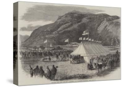 Cutting the First Sod of the Conway and Llanrwst Railway--Stretched Canvas Print