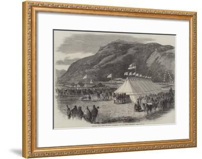 Cutting the First Sod of the Conway and Llanrwst Railway--Framed Giclee Print