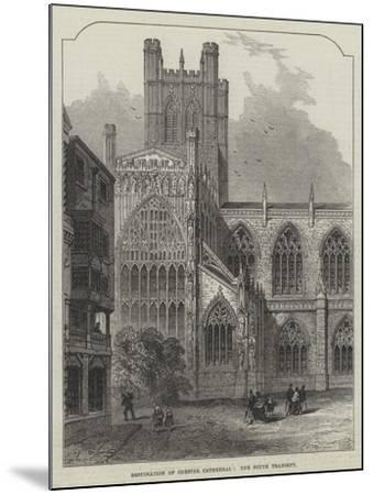 Restoration of Chester Cathedral, the South Transept--Mounted Giclee Print