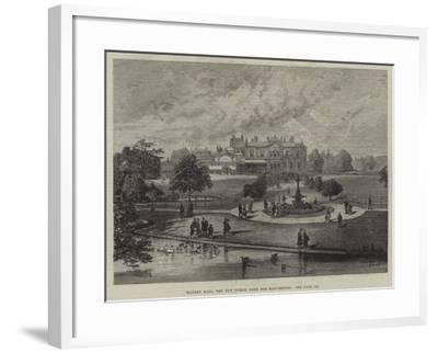 Manley Hall, the New Public Park for Manchester--Framed Giclee Print