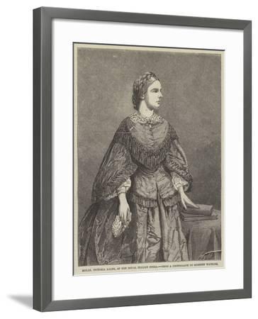 Mademoiselle Victoria Balfe, of the Royal Italian Opera--Framed Giclee Print