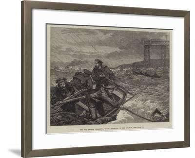 The Tay Bridge Disaster, Boats Assisting in the Search--Framed Giclee Print