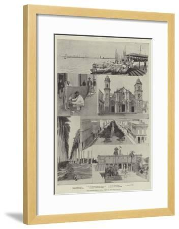 The Insurrection in Cuba, Views in and About Havana--Framed Giclee Print