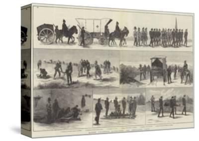 Easter Volunteer Manoeuvres, the Ambulance Corps--Stretched Canvas Print