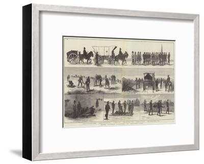 Easter Volunteer Manoeuvres, the Ambulance Corps--Framed Giclee Print