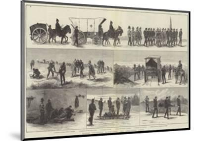 Easter Volunteer Manoeuvres, the Ambulance Corps--Mounted Giclee Print