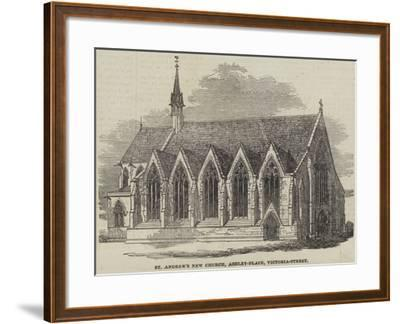 St Andrew's New Church, Ashley-Place, Victoria-Street--Framed Giclee Print