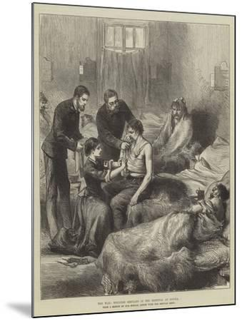 The War, Wounded Servians in the Hospital at Usicza--Mounted Giclee Print