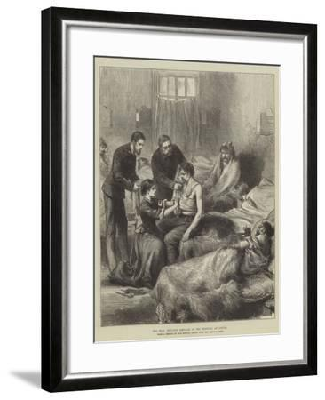 The War, Wounded Servians in the Hospital at Usicza--Framed Giclee Print