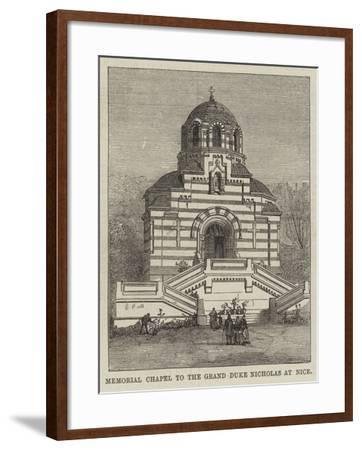 Memorial Chapel to the Grand Duke Nicholas at Nice--Framed Giclee Print