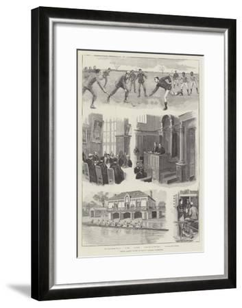 Prince Albert Victor at Trinity College, Cambridge--Framed Giclee Print