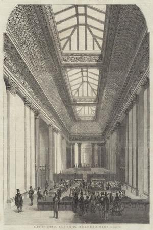 Bank of London, Head Office, Threadneedle-Street--Stretched Canvas Print