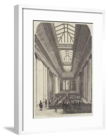 Bank of London, Head Office, Threadneedle-Street--Framed Giclee Print