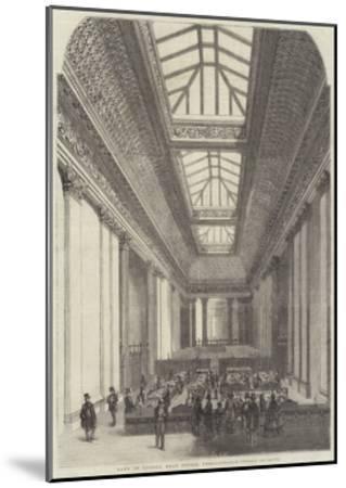 Bank of London, Head Office, Threadneedle-Street--Mounted Giclee Print