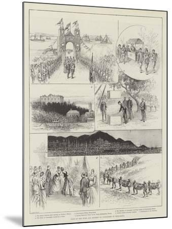 Visit of the Duke and Duchess of Connaught to Hong-Kong--Mounted Giclee Print