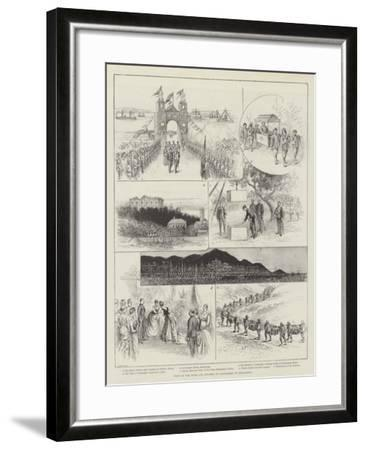 Visit of the Duke and Duchess of Connaught to Hong-Kong--Framed Giclee Print