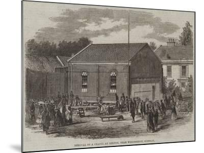 Removal of a Chapel at Melton, Near Woodbridge, Suffolk--Mounted Giclee Print